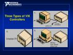 three types of vxi controllers