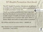 nt health promotion storybook