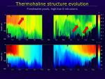 thermohaline structure evolution