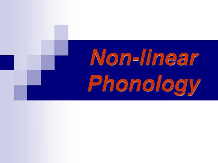 non linear phonology n.