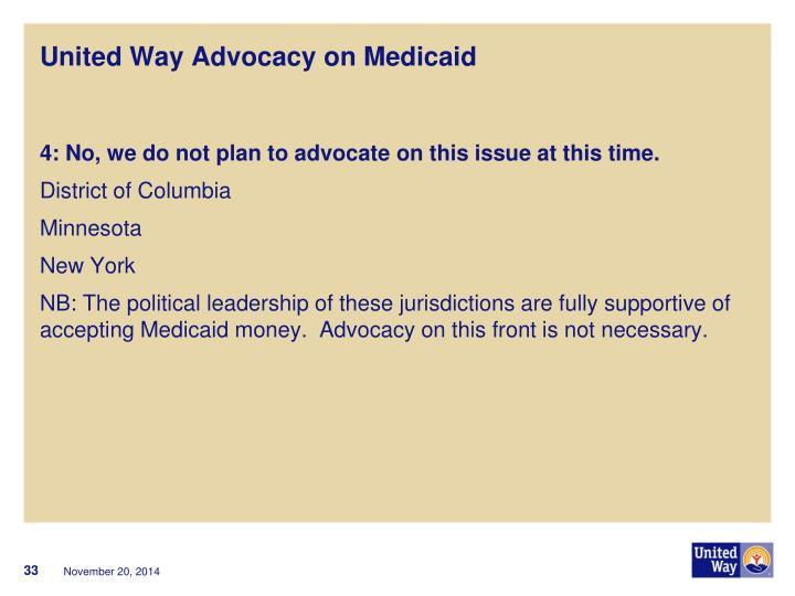United Way Advocacy on Medicaid