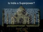 is india a superpower