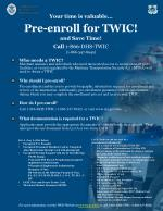 your time is valuable pre enroll for twic and save time call 1 866 dhs twic 1 866 347 8942