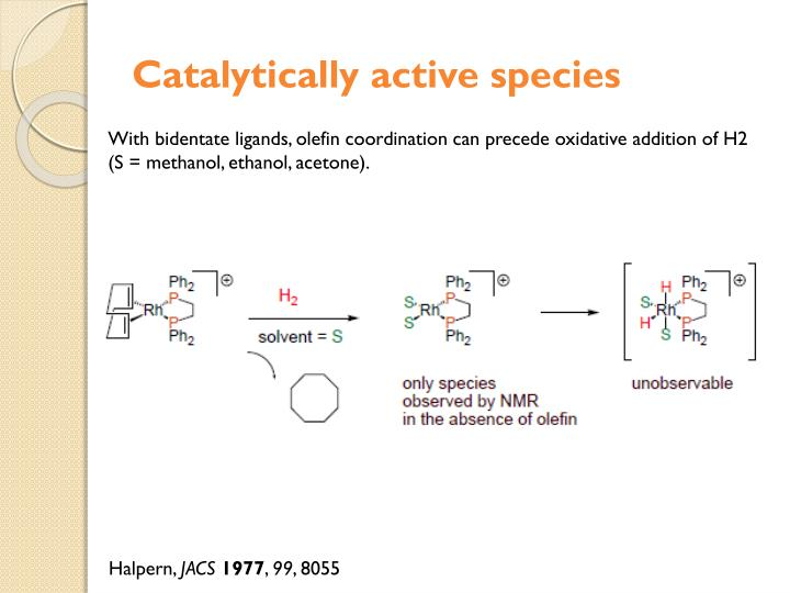 Catalytically active species