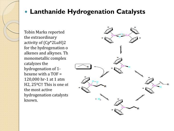 Lanthanide Hydrogenation Catalysts