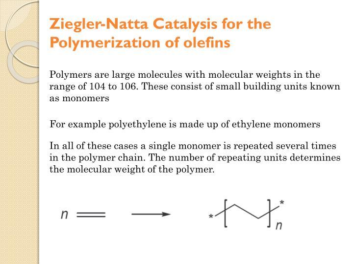 Ziegler-Natta Catalysis for the Polymerization of olefins