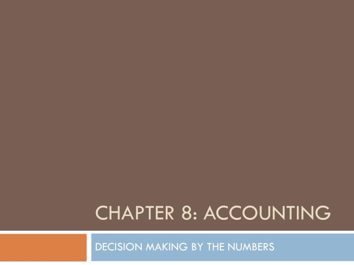 chapter 8 accounting n.