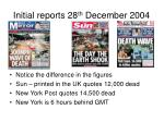 initial reports 28 th december 2004