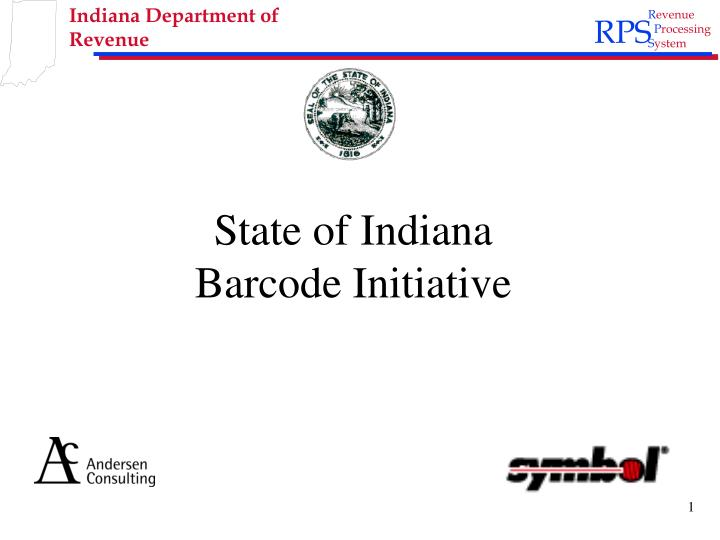 state of indiana barcode initiative n.