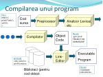compilarea unui program