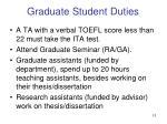 graduate student duties