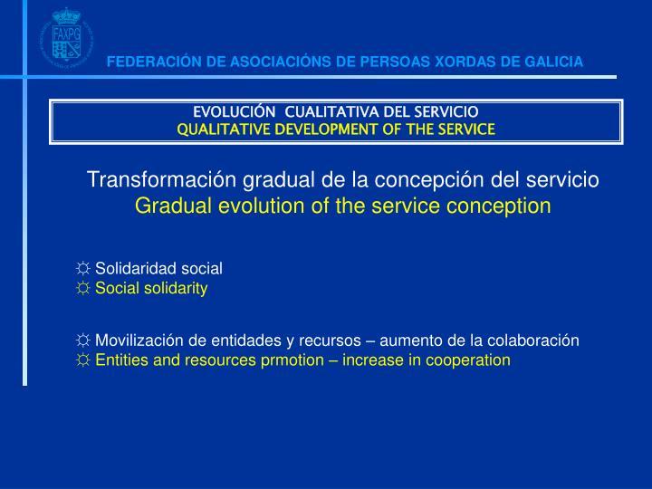 EVOLUCIÓN  CUALITATIVA DEL SERVICIO