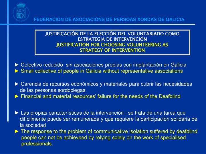 JUSTIFICACIÓN DE LA ELECCIÓN DEL VOLUNTARIADO COMO ESTRATEGIA DE INTERVENCIÓN