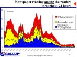 newspaper reading among the readers throughout 24 hours