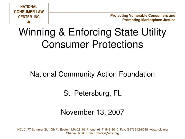winning enforcing state utility consumer protections n.