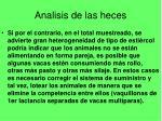 analisis de las heces