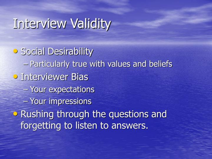 Interview Validity
