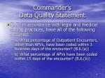 commander s data quality statement1