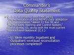 commander s data quality statement4