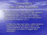 commander s data quality statement5