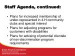 staff agenda continued