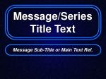 message series title text