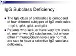 igg subclass deficiency