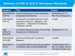 summary of sae g 19 g 21 aerospace standards1