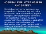 hospital employee health and safety