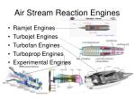 air stream reaction engines