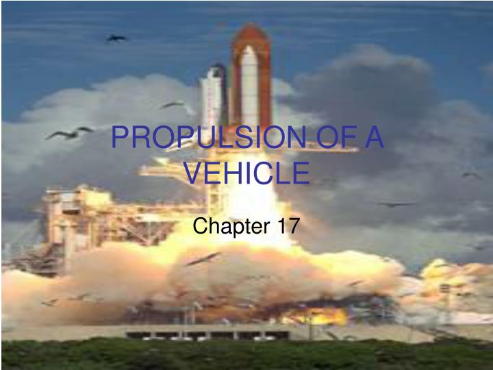 propulsion of a vehicle n.