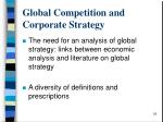 global competition and corporate strategy