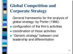 global competition and corporate strategy1