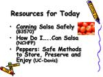 resources for today