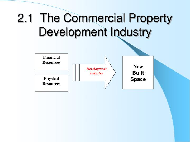 2 1 the commercial property development industry