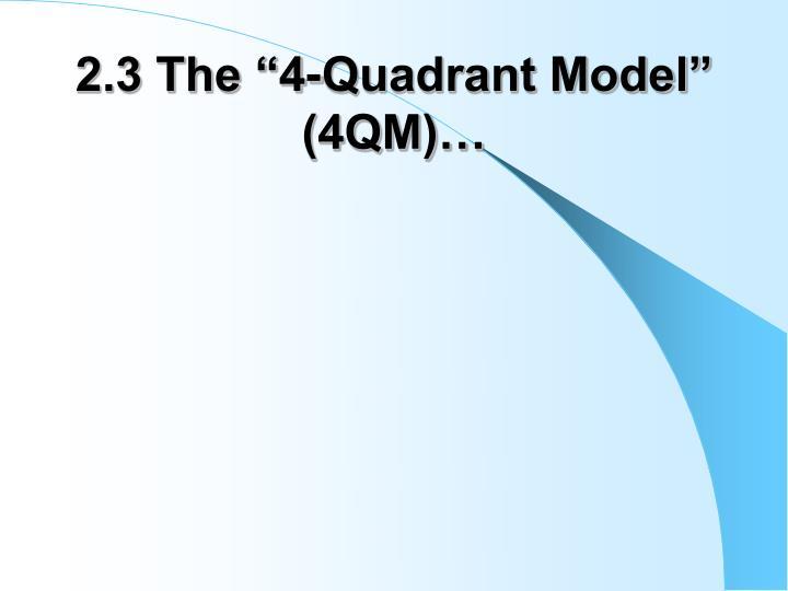 "2.3 The ""4-Quadrant Model"" (4QM)…"
