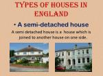 types of houses in england1
