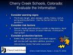 cherry creek schools colorado evaluate the information