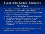 suspending special education students