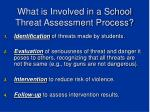 what is involved in a school threat assessment process