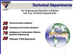technical departments