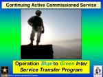 continuing active commissioned service