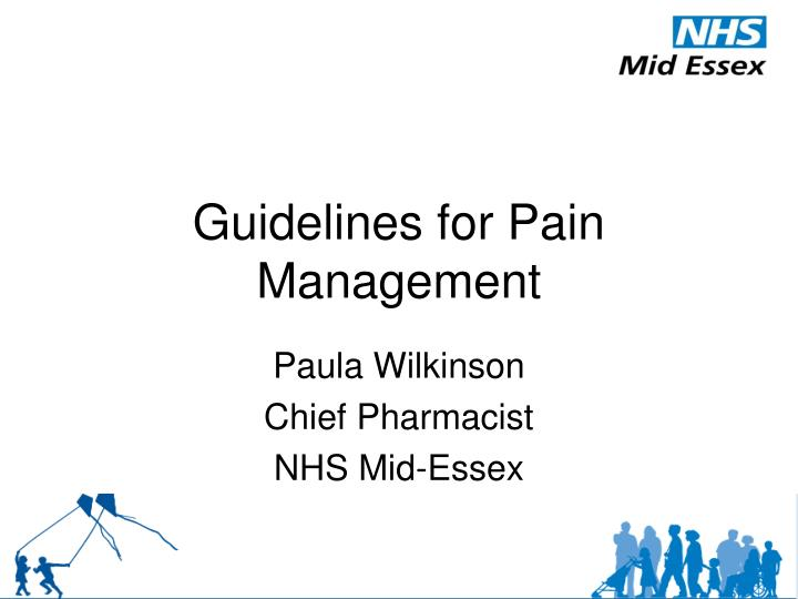 guidelines for pain management n.