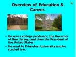 overview of education career