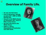overview of family life