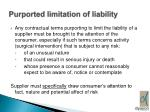 purported limitation of liability
