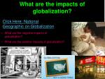 what are the impacts of globalization