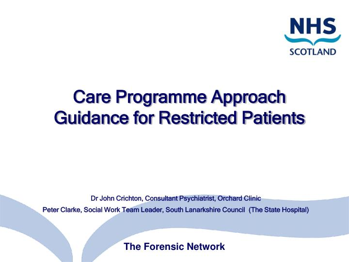 care programme approach guidance for restricted patients n.