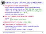 revisiting the infrastructure path cont