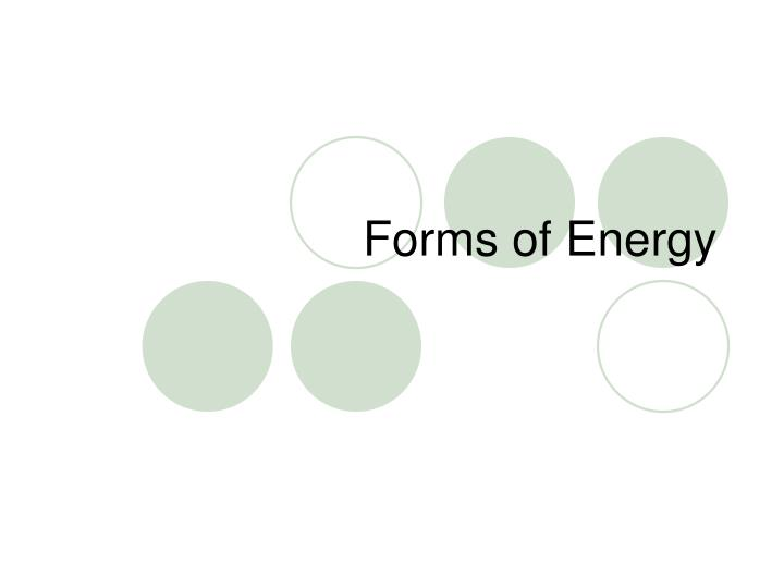 forms of energy n.